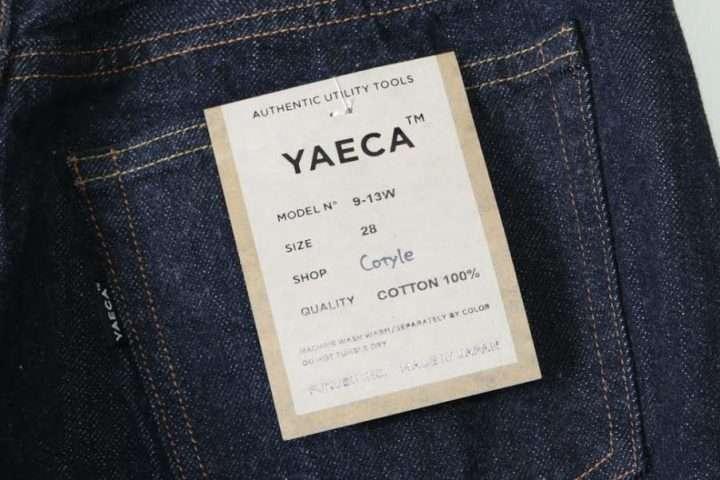 YAECA デニムが入荷しました